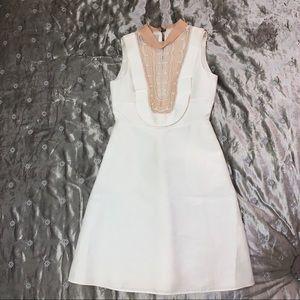 Valentino White A-line Embellished Dress